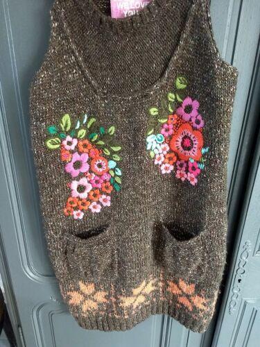 Desigual superbe robe en laine taille m