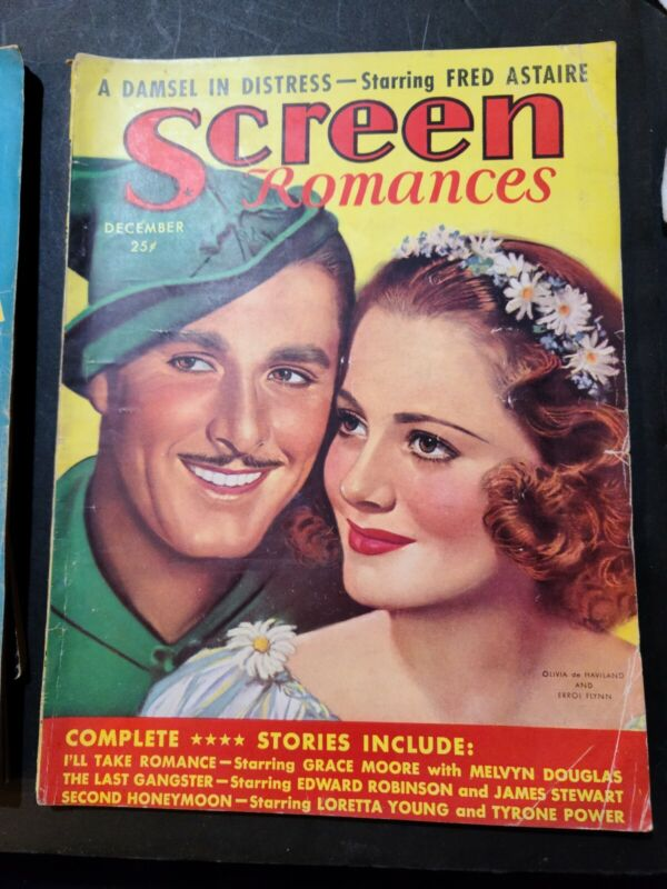 SCREEN ROMANCES ROBIN HOOD FLYNN DE HAVILLAND CRAWFORD STANWYCK 1937