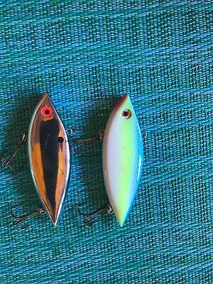 """Two No Name Rattle Lures, 3"""" Each, 5 oz, Clean"""