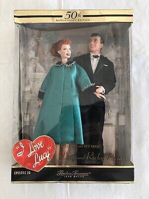 I LOVE LUCY Ricky Ricardo 50TH Barbie Doll Set Blessed Event COA 28553 Collector