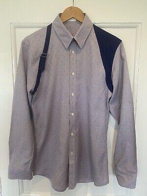 Genuine Alexander Mcqueen Men Cotton Shirt Harness Detail Size 48 Medium Mens