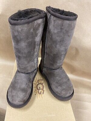 UGG GIRLS CHOCOLATE UGG KID'S CLASSIC TALL boot shoe SIZE 11