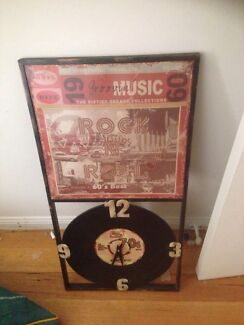 Rock and roll clock. Man cave! Record!  Loganholme Logan Area Preview