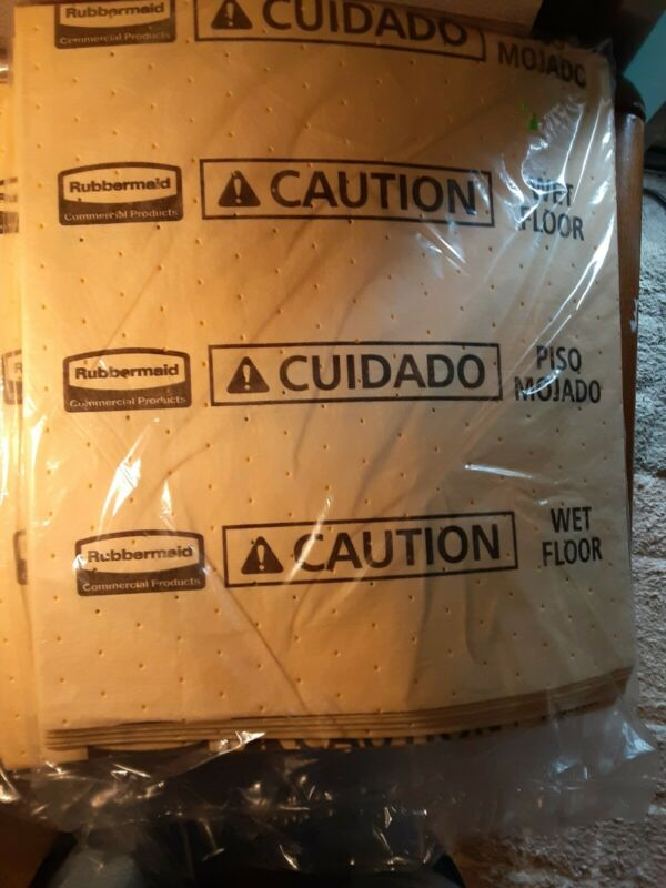 "Rubbermaid Commercial Pad ""Caution Wet Floor"" Yellow 17 x 18 inch 88. Pads"