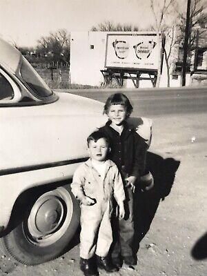 Chevrolet Billboard Advertisement Picture Photograph Old Kids Old Car Vintage