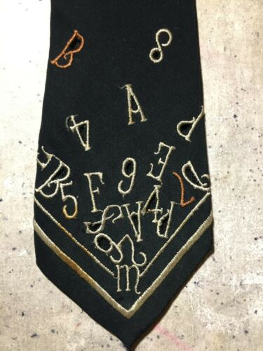 Matsuda Vintage Tie with Embroidered Letters