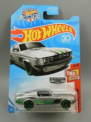 2018 Hot Wheels 1967 Ford Mustang ZAMAC Then and Now Series 4/10 1:64 Scale