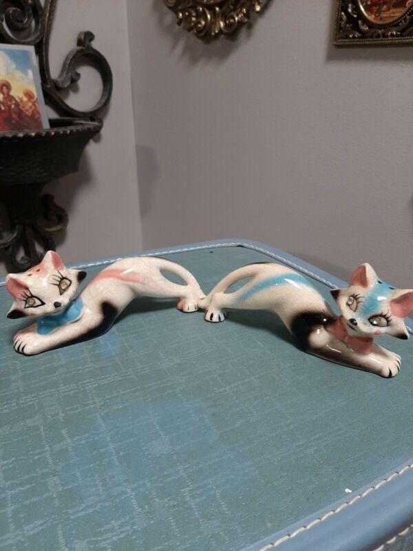 Vintage Thames Cat Hand Painted Jewel Eyes