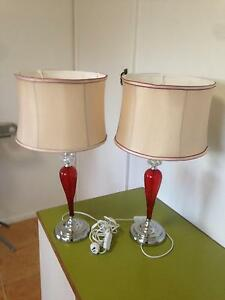 2 Beautiful Bedroom Lamps Ingleburn Campbelltown Area Preview
