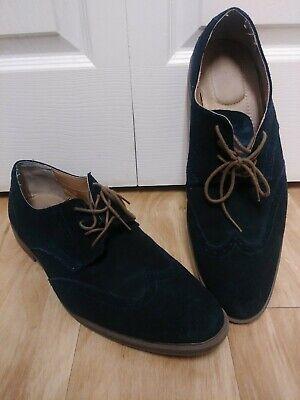 Calvin Klein Mens Greenwich Dress Blue suade Oxford Shoes 13 US, 46 EU