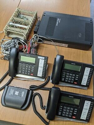 Toshiba Strata Cix40 Phone System 3 Phones Message Annoncer
