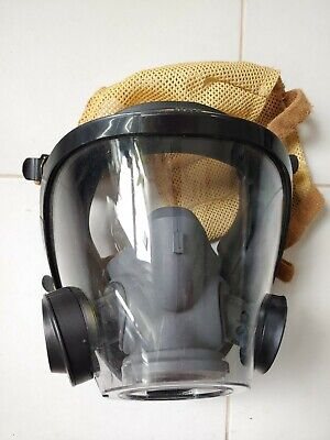 Scott Av3000 Sureseal Firefighter Scba Mask 5pt Headnet - Medium Euc