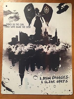 Tin Sign Vintage Bioshock Bring Us The Girl And Wipe Away The Debt