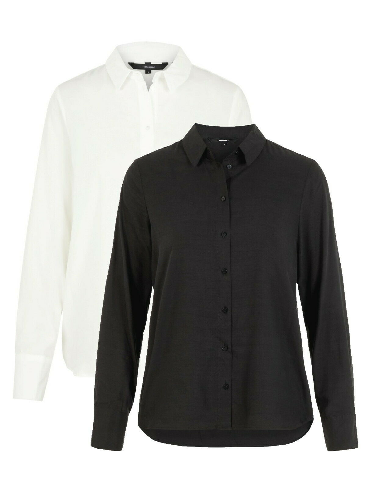 Vero Moda Damen Bluse VmTanya 10218724 schwarz weiss XS S M L XL