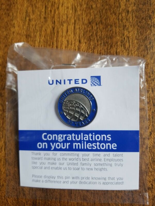 United Airlines Milestone Pin