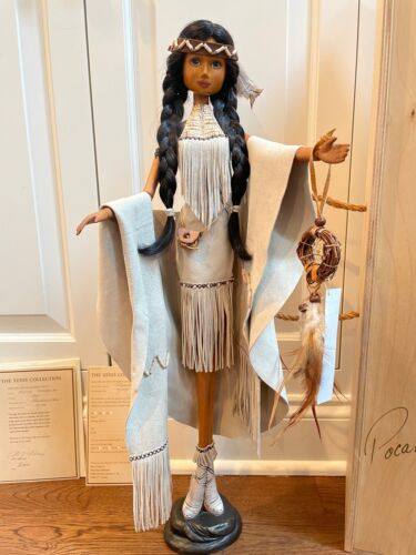 Xenis Pocahontas wooden Doll Limited 7/75 Mint condition with box