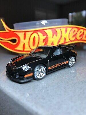 🔴Hot Wheels Custom Real Riders Porsche 911 GT3 RS Black HW Showroom 2013