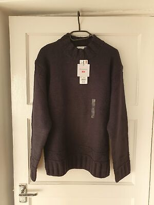 Uniqlo x J.W. Anderson Low Gauge Crew Neck Long-Sleeve Sweater Navy - Small
