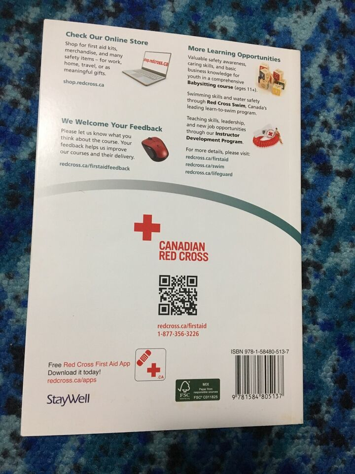 25cf58b6ec7 Canadian Red Cross first aid and cpr manual