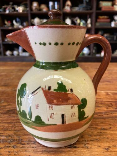 Vintage Antique English Pottery Small Coffee Pitcher