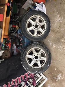 195 65R15 95T Winter Tires w/ Rims