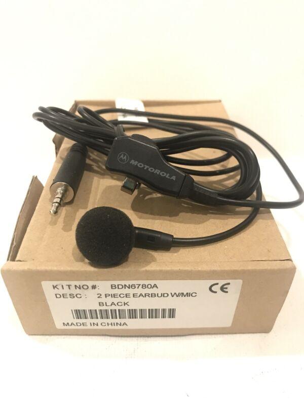 NEW OEM Motorola BDN6780A Earbud w/ Mini Mic PTT, HT1000, XTS5000, MTX9000