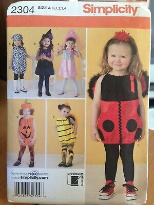 TODDLERS' COSTUMES Ladybug, Bee, Dog, more- Uncut Sewing PATTERN Simplicity - More Costumes