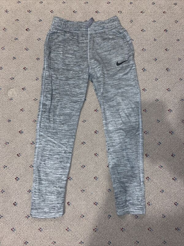 Boys Gray with Small Striped Pattern Nike Dri-Fit Pants size Large
