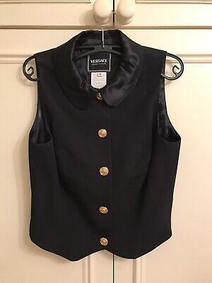 Ladies Versace Original Black Evening Waistcoat Top