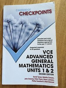 Cambridge Checkpoints VCE advanced General mathematics unit 1,2 Beaumaris Bayside Area Preview