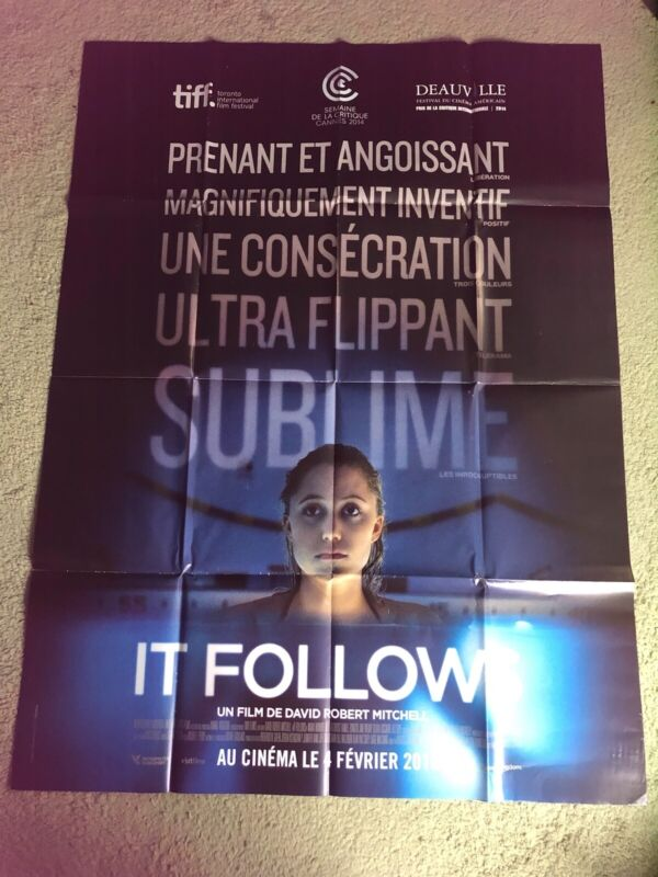 It Follows Original Large French  Horror Movie Poster
