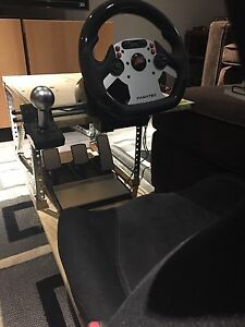 Fanatec racing wheel, pedals and shifter