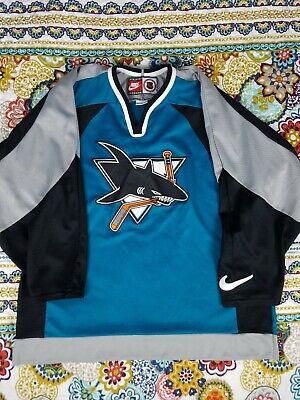 4f48c31d4a2 San Jose Sharks Nike Air Vintage 90s Hockey Jersey Mens Sz L NHL Throwback