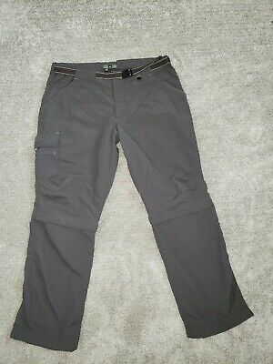 REI Pants Women's Size 10 Petite Hiking ZIP Off  Sahara Convertible Gray -
