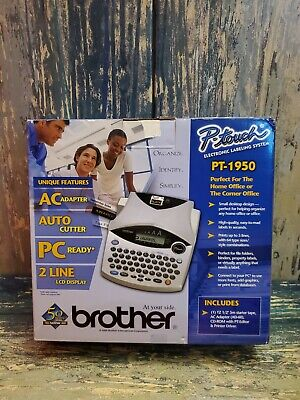 Brother P-touch Pt-1950 Label Thermal Printer Complete Box Set