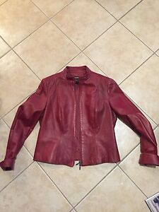 Women's Red leather jacket  Peterborough Peterborough Area image 1