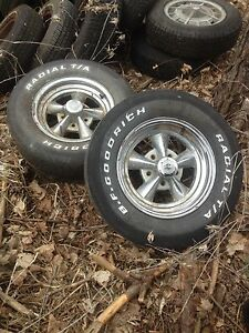 Old muscle car wheels