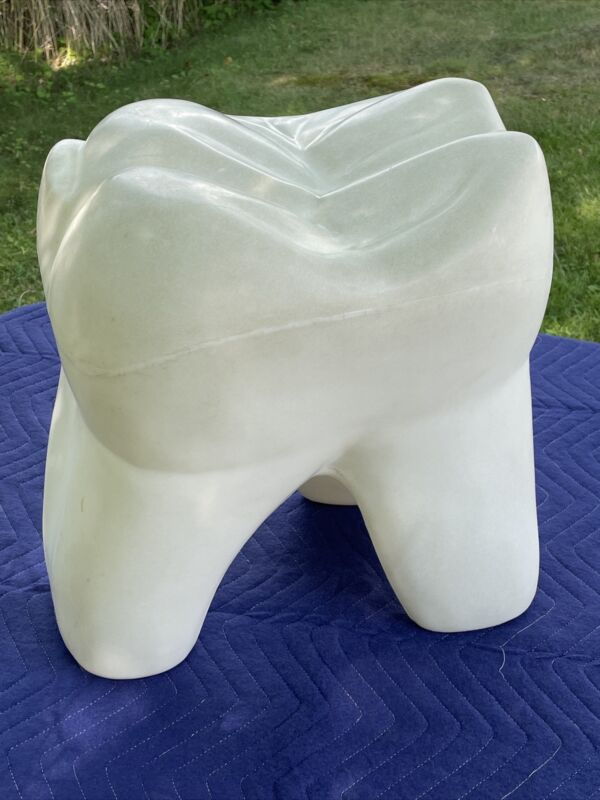 Vintage Tooth Shaped Child's Stool Blow Mold-Dentist Office-Heavy-Sturdy-RARE