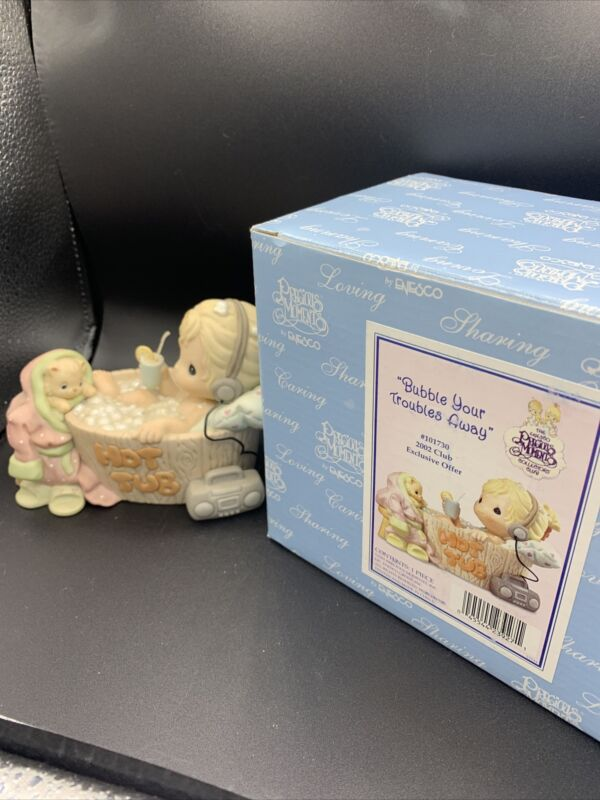 """Precious Moments 101730 """"Bubble Your Troubles Away"""" 2002 Club Exclusive MIB WP83"""