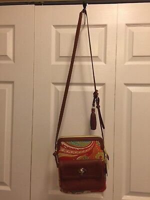 spartina 449 handbag Fiddlers Cove Turn Key Hipster With Linen and Leather NWT