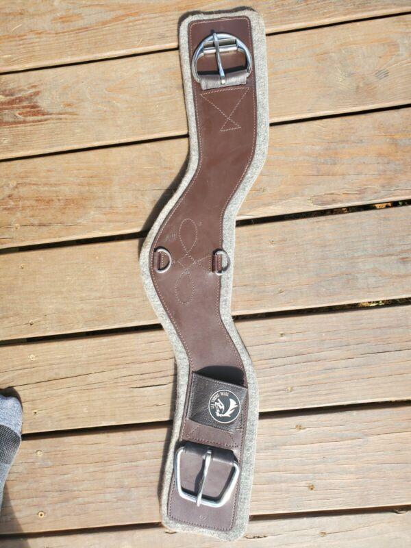 Total Saddle Fit Shoulder Relief Cinch - Leather - Felt Liner 28