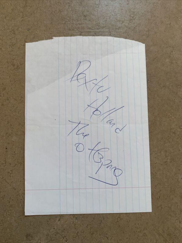 Dexter Holland Autograph The Offspring