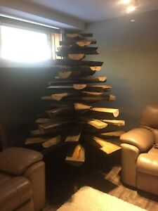 Stunning Live Edge Wooden Christmas Tree