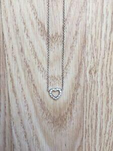 Brand New Sterling Sliver Heart Necklace