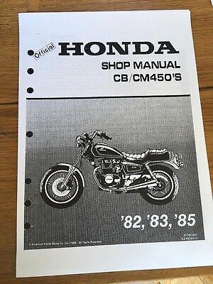 HONDA CB CM450S Workshop Service Manual 1982 - 1985 Paper bound copy