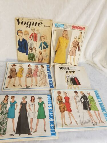 Vintage 1970s Vogue Sewing Patterns