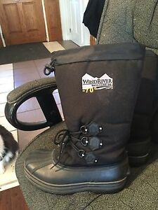 Wind river -70 winter boots and brown wind river dress shoes men