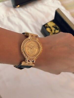 Authentic Gianni Versace Signature Medusa Gold Plated Women S Watch