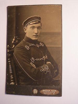 Chemnitz - 1909 - Hans Berneburg als Student in Kneipjacke - CDV / Studentika