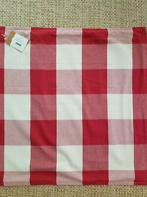 NWT Pottery Barn BUFFALO CHECK Pillow Cover 24X24 RED / IVORY PLAID *Christmas
